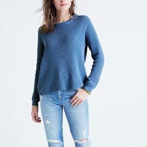 Madewell Blue CrewNeck Pullover Knit Sweater Small